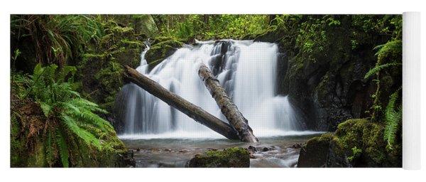 Falls On Canyon Creek Yoga Mat