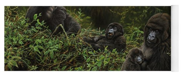 Family Of Gorillas Yoga Mat
