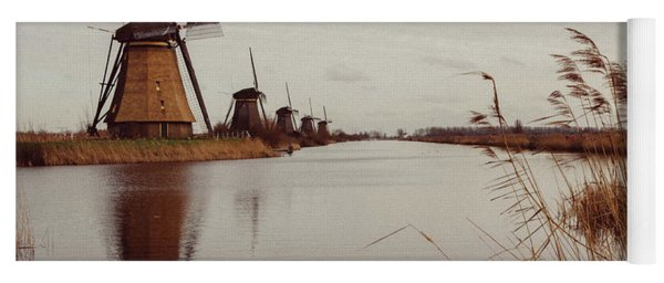 Famous Windmills At Kinderdijk, Netherlands Yoga Mat