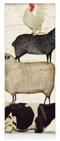 Farm Animals Pileup Yoga Mat