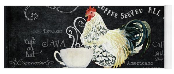 Farm Fresh Rooster 5 - Coffee Served Chalkboard Cappuccino Cafe Latte  Yoga Mat