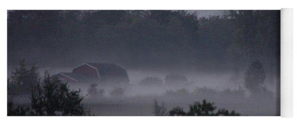 Farm In Fog Yoga Mat