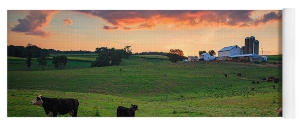 Farm Life In Beaver County Yoga Mat