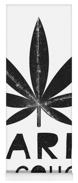 Farm To Couch Black And White- Cannabis Art By Linda Woods Yoga Mat