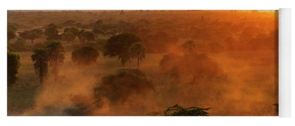 Yoga Mat featuring the photograph Farmer Returning To Village In The Evening by Pradeep Raja Prints
