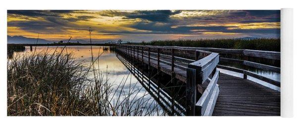 Farmington Bay Sunset - Great Salt Lake Yoga Mat