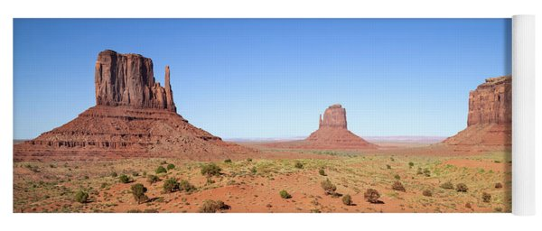 Fascinating Monument Valley Panoramic View Yoga Mat