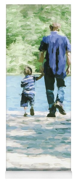 Father And Son 3 Yoga Mat