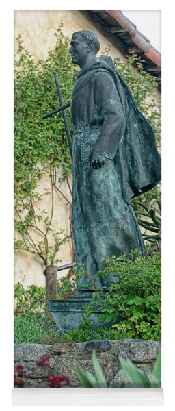 Father Junipero Serra Statue At Mission Carmel Yoga Mat