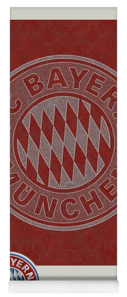 Fc Bayern Munich Logo And 3d Badge Yoga Mat
