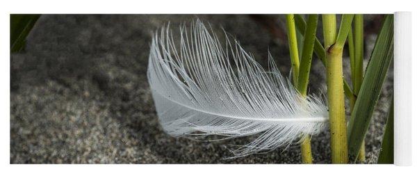 Feather And Beach Grass Yoga Mat