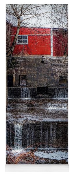 Yoga Mat featuring the photograph Feeder Canal Lock 13 by Kendall McKernon