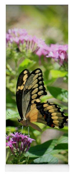 Feeding The Butterflies Yoga Mat