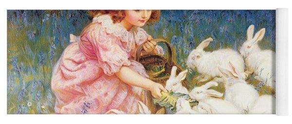 Feeding The Rabbits Yoga Mat