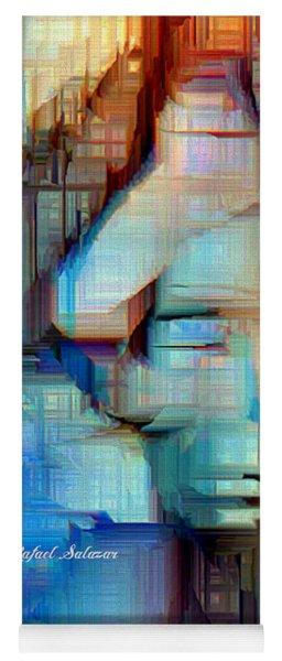 Yoga Mat featuring the digital art Feeling Blue by Rafael Salazar