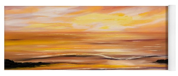 Feeling The Divinity - Sunset Painting Yoga Mat