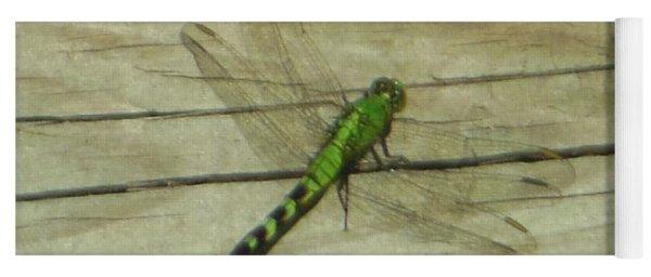 Female Eastern Pondhawk Dragonfly Yoga Mat