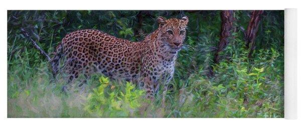 Female Leopard At First Light Yoga Mat