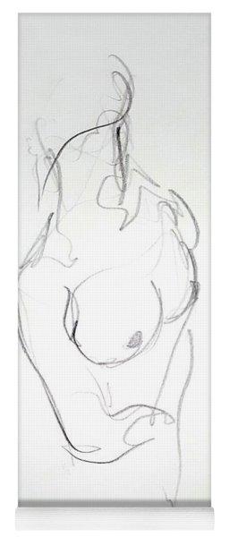 Female Nude Torso Yoga Mat
