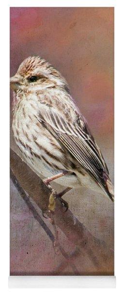 Female Sparrow On Branch Ginkelmier Inspired Yoga Mat