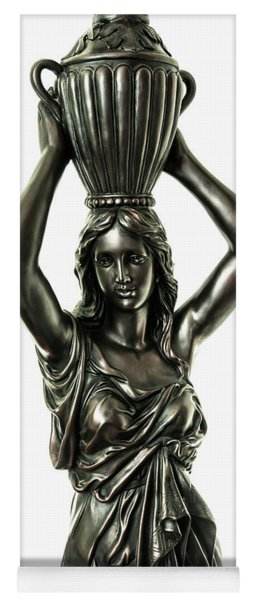 Female Water Goddess Bronze Statue 3288a Yoga Mat