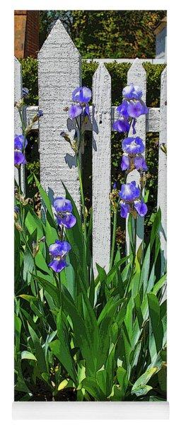 Fence In Purple Yoga Mat