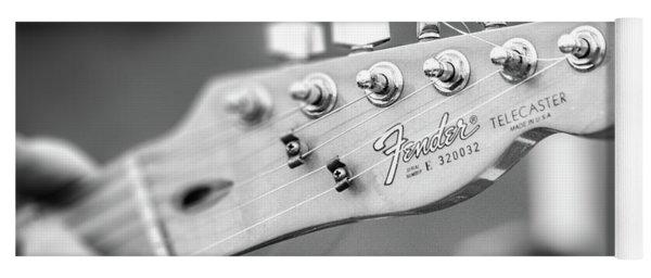 Fender Telecaster Monochrome - Detail Yoga Mat