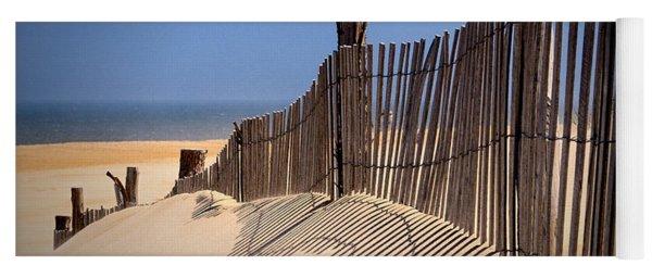 Fenwick Dune Fence And Shadows Yoga Mat