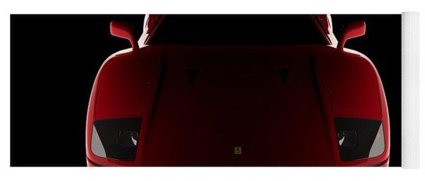 Ferrari F40 - Front View Yoga Mat