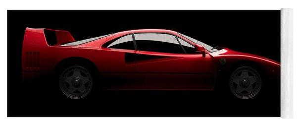 Ferrari F40 - Side View Yoga Mat