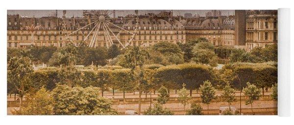Paris, France - Ferris Wheel Yoga Mat