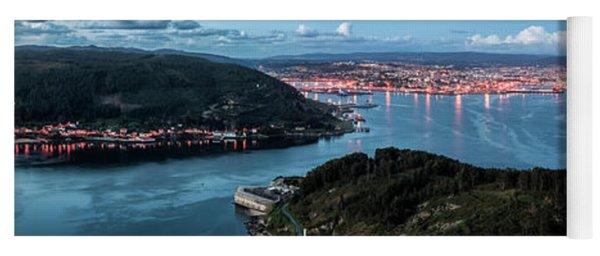 Ferrol's Estuary Panorama From La Bailadora Galicia Spain Yoga Mat