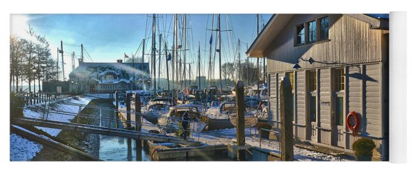 Ferry Harbour In Winter Yoga Mat