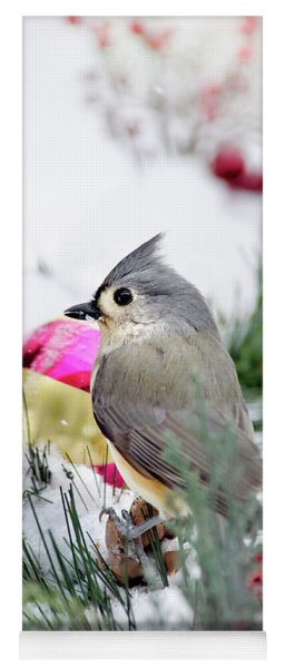 Festive Titmouse Bird Yoga Mat