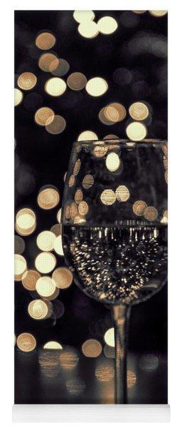 Festive White Wine Yoga Mat