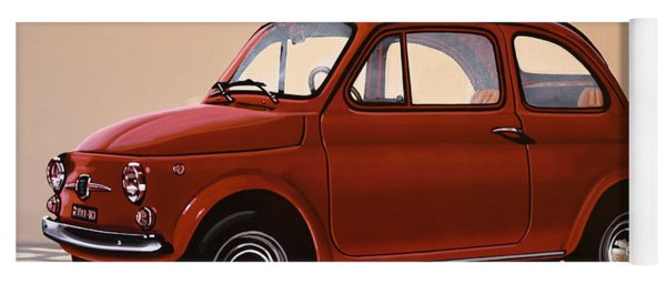 Fiat 500 1957 Painting Yoga Mat