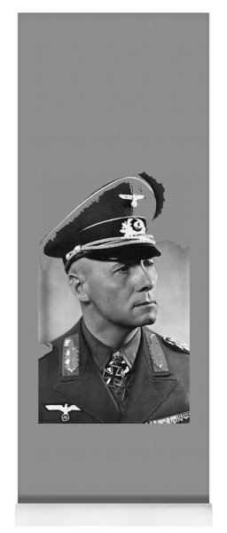 Field Marshall Erwin Rommel Portrait Circa 1940 Color Added 2016 Yoga Mat