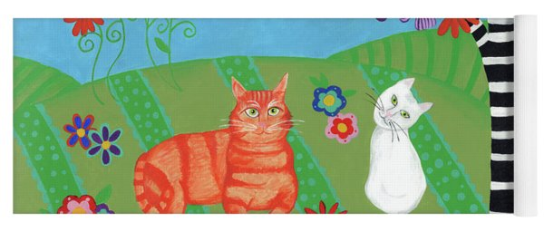 Field Of Cats And Dreams Yoga Mat