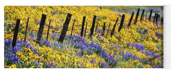 Field Of Gold And Purple Yoga Mat
