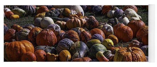 Field Of Pumpkins And Gourds Yoga Mat
