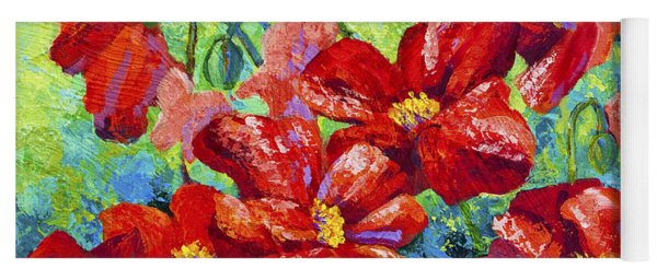 Field Of Red Poppies II Yoga Mat