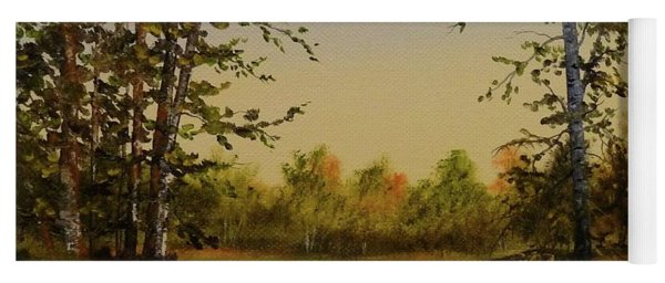 Fields And Trees Yoga Mat