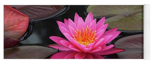 Fiery Beauty Of A Waterlily Yoga Mat
