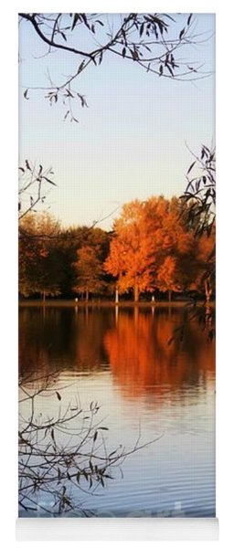 Fiery Colors On The Lake Yoga Mat