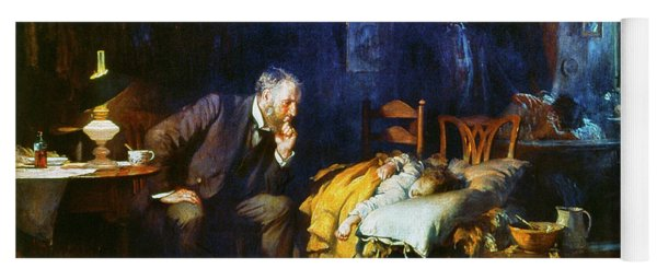 Fildes The Doctor 1891 Yoga Mat