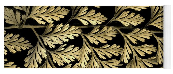 Yoga Mat featuring the photograph Filigree Fern Gold by Jessica Jenney