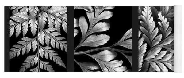 Filigree Fern Triptych Yoga Mat