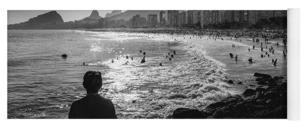 Fine Art Copacabana Rio De Janeiro, Brazil Yoga Mat