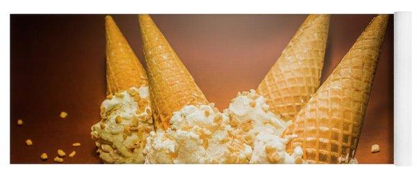 Fine Art Ice Cream Cone Spill Yoga Mat