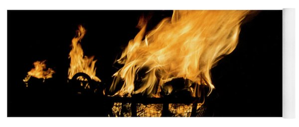 Fire Cressets Three Yoga Mat